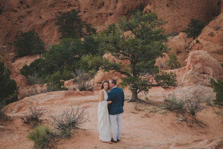 Julie Ian Garden Of The Gods Elopement Photographer Jessica Christie Photography